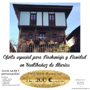Oferta casa rural nochevieja en Asturias